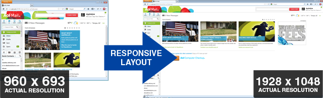 AOL Mail: Responsive Layout